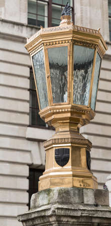 Old Lamp in the City of London - originally a gas lamp