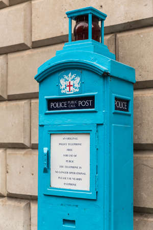 doctor who: Old Police Public Call Post in the City of London - not in use
