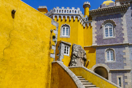pena: Pena National Palace at Sintra in Portugal Editorial