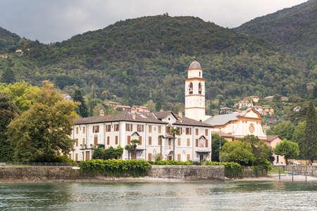 Church and small village near Bellagio on Lake Como in Italy