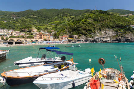 The town of Monterosso of the Cinque Terre, on the Italian Riviera in the Liguria region of Italy