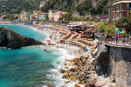 The new town Fegina of Monterosso of the Cinque Terre, on the Italian Riviera in the Liguria region of Italy