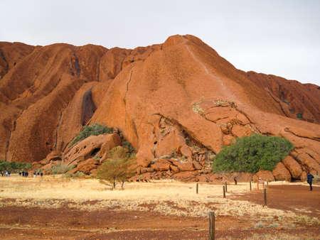 The red Ayers Rock known as Uluru in Australia