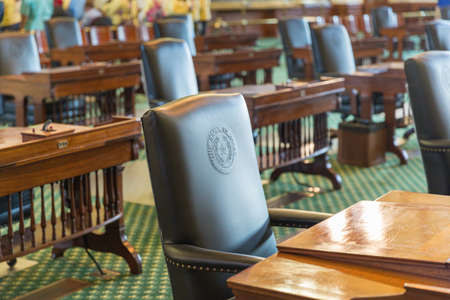 A State of Texas Leather Chair