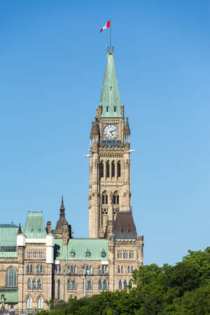 The Buildings and Skyline of Ottawa Ontario Canada Editorial
