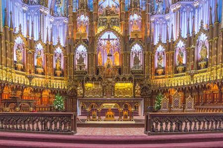 Basilique Notre-Dame de Montréal - une partie du riche héritage religieux québécois
