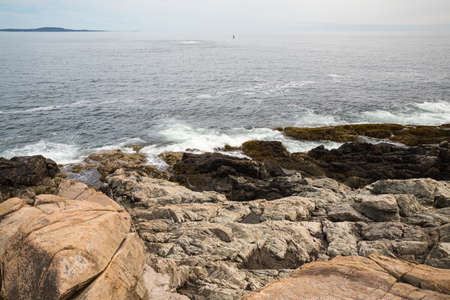 Otter Cliff in Acadia National Park in Maine Stock Photo