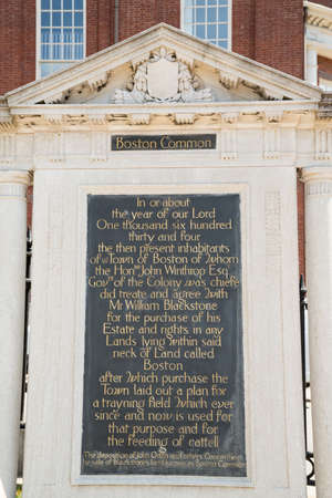 Boston Common and start of the Freedom Trail USA