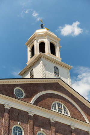 Faneuil Hall in Boston on Freedom Trail USA Stock Photo