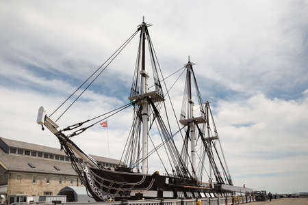 USS Constitution Old Ironsides on Freedom Trail in Boston USA