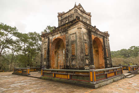 Khiem Tomb is the tomb of Tu Duc in Hue Vietnam, built for the emporer in 1864. Stock Photo