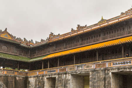 Hue Royal Palace set within the walled complex of the forbidden city in Vietnam