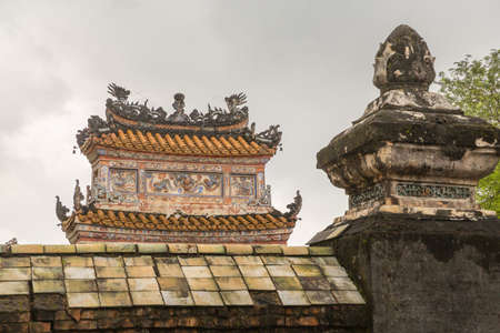 Khiem Tomb is the tomb of Tu Duc in Hue Vietnam, built for the emporer in 1864. Editorial