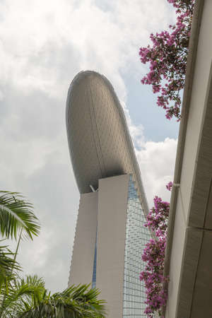 Close up in Marina Bay in Singapore during the day