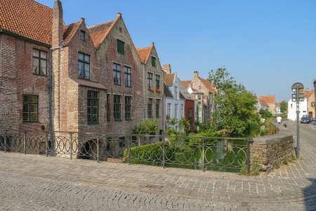 A street scene in Bruges Belgium