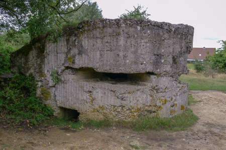WW1 Pillbox at Hill 60 near Ypres in Belgium Stock Photo