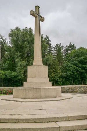 Polygon Wood WW1 Cemetery near Ypres in Belgium Stock Photo