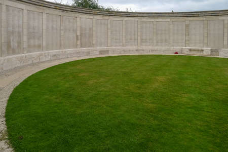 Tyne Cot WW1 Cemetery near Ypres in Belgium