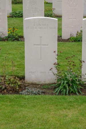 Tyne Cot WW1 Cemetery near Ypres in Belgium