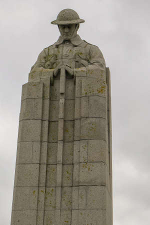 The WW1 Canadian Memorial near Ypres in Belgium