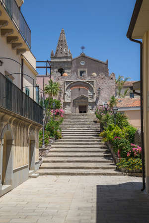 A View in Forza D'agro in Siciliy Italy Stock Photo