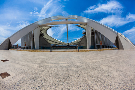 stadium  durban: Football soccer stadium architecture design of Moses  Madhida in Durban