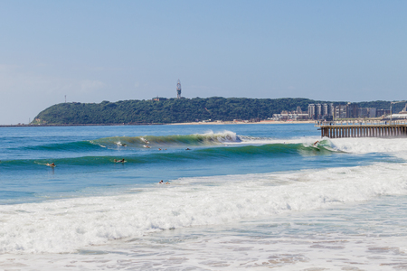 swells: Summer ocean swells for surfers at Durban s surf-city