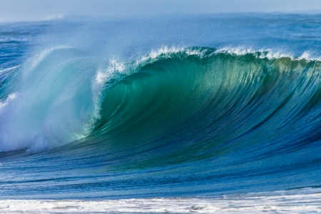 Cyclone swells ocean waves colors  photo