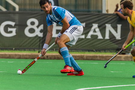 Hockey international match action between South-Africa v Agrentina at Queensmead