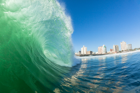 Ocean wave Durban beach swimming angle of upright vertical crashing hollow wall of water energy beauty and power