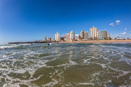 bodyboarder: Durban North beach pier waves water