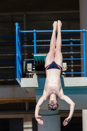 Pool diving national aquatics championships action boys at Kings Park Durban South Africa