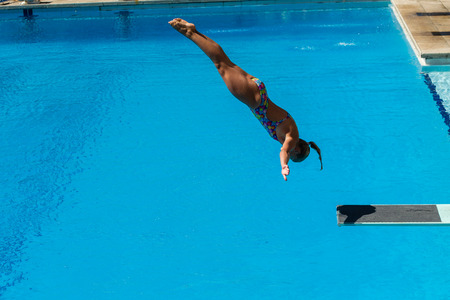 Pool diving national aquatics championships action girls at Kings Park Durban South Africa