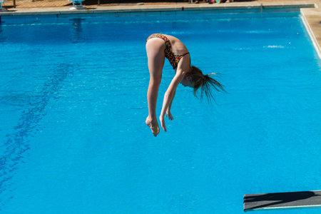 Pool diving national aquatics championships action girls at Kings Park Durban South Africa