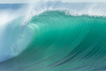 Ocean Wave closeup hollow scenic power energy of nature Stock Photo