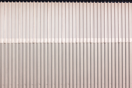 sheeting: Metal sheeting ibr industrial building product closeup detail grooves Stock Photo