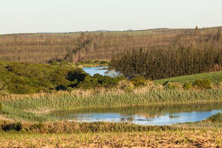 dams: Farming landscape hills valleys  dams and rivers