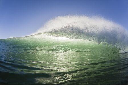 crashing: Ocean wave swimming surfing encounter closeup crashing water power