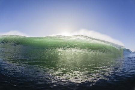 encounter: Ocean wave swimming surfing encounter closeup crashing water power