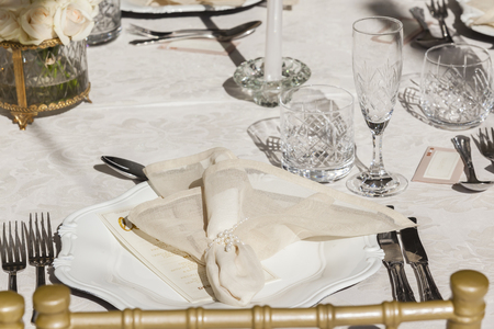private party: Decor Dining Tables outdoors tent celebration party at private mansion home
