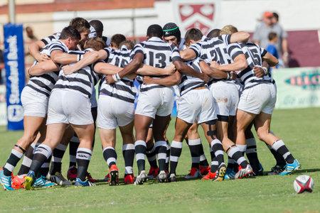 Rugby Festival Middelbare scholen 1e team actie