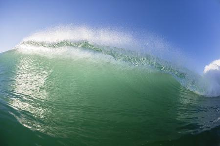 crashing: Wave swimming closeup scenic crashing water energy Stock Photo