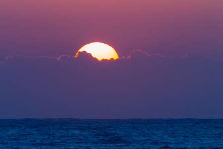 Sunrise Clouds Ocean Horizon details