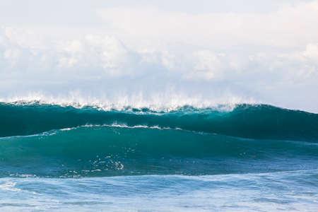 crashing: Wave crashing hollow blue water power beauty of nature Stock Photo