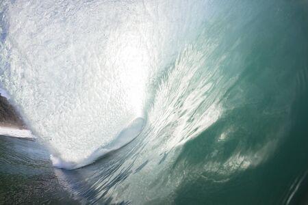 crashing: Ocean waves crashing blue water power of nature.