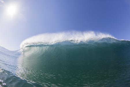 Ocean waves crashing blue water power of nature.