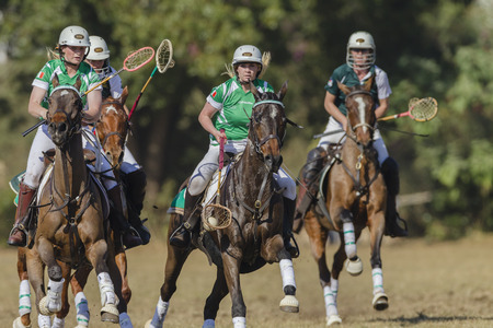 worldcup: Polocrosse sport world-cup Irelands Joanne Lavery v Zimbabwe play action at Shongweni equestrian fields Editorial