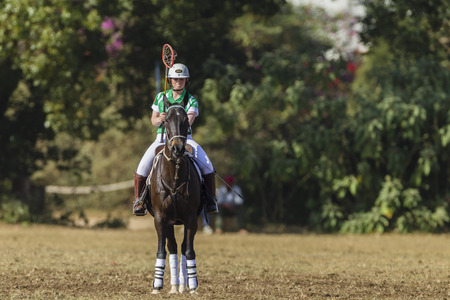 worldcup: Polocrosse sport world-cup Irelands Joanne Lavery Horse at Shongweni equestrian fields