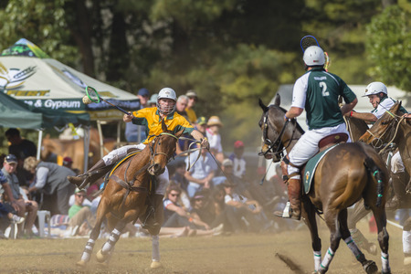 worldcup: Polocrosse sport world-cup Australias Will Grills v Zimbabwe play action at Shongweni equestrian fields