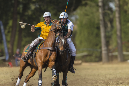 worldcup: Polocrosse sport world-cup Australias Lauren Cant v Zimbabwe play action at Shongweni equestrian fields